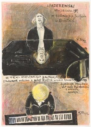Frycz Karol (1877-1963), Ignacy Paderewski w czasie warszawskiego koncertu, 1919
