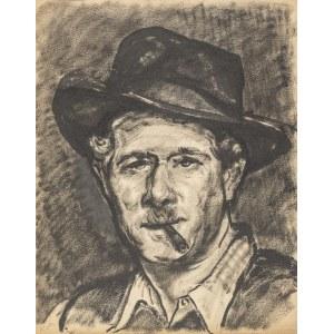 Srzednicki Konrad (1894-1993), Autoportret w kapeluszu, lata 50.