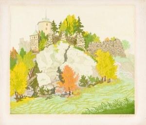 Bielecki Władysław (1896-1943), Ojców - ruiny zamku, lata 30. XX w.