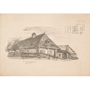 Gumowski Jan Kanty (1883-1946), Lublin. Dom mieszczański na przedmieściu, 1917