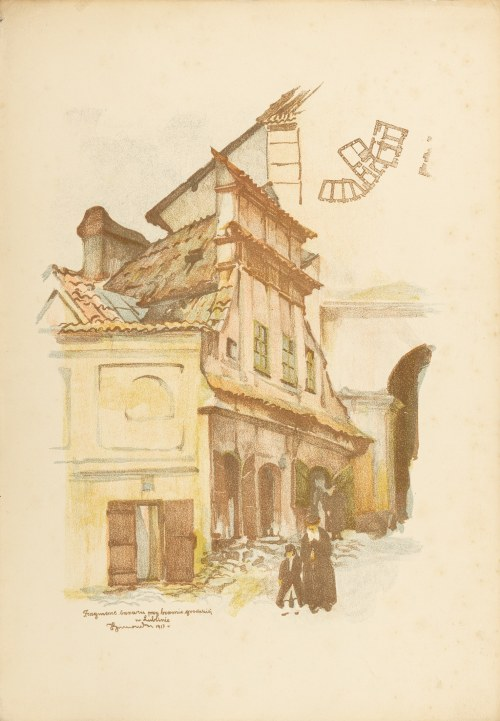 Gumowski Jan Kanty (1883-1946), Fragment bazaru przy Bramie Grodzkiej, 1918