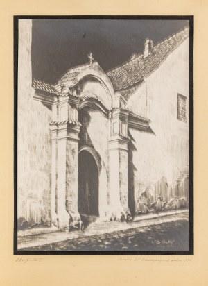 Jan Dziewałtowski-Gintowt (1904-1980), Wilno. Brama klasztoru benedyktynek, 1935