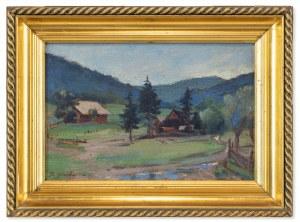 Stanisław Górski (1887-1955), Pejzaż I (podgórska wioska), 1926