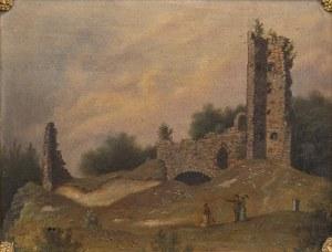 H. Kemnitz, Boyneburg [Ruiny zamku], 1885