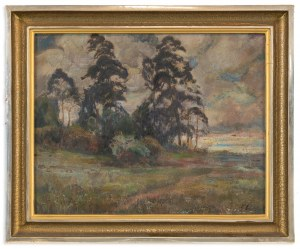 Stanisław Paciorek (1889-1952), Sosny o zmroku, lata 40. XX w.