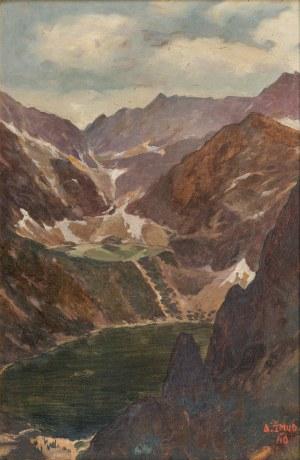 Alfred Żmuda (1897-1966), Pejzaż z Tatr (Morskie Oko i Czarny Staw), 1940