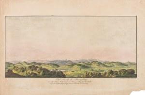 Friedrich August Tittel (1782-1836 Kowary), Panorama Karkonoszy widziana z okolic Kowar, 1823