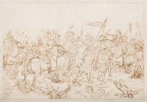 Teodor Stachowicz (1800-1873), Scena bitewna [starożytny Rzym], ok. 1840