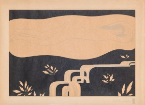 Carl Otto Czeschka (1878-1960), Am Bach (Przy potoku), 1919