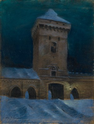 Odo Dobrowolski (1883-1917), Brama Floriańska w nocy [nokturn krakowski]