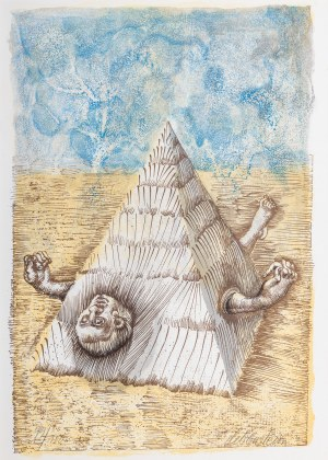Jan Lebenstein (1930-1999), Piramida, lata 70. XX wieku