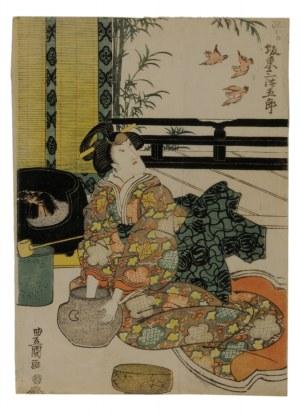 Utagawa Toyokuni (1769-1825), Scena z teatru kabuki