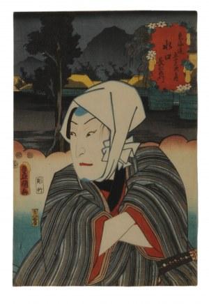 Utagawa Kunisada (1786-1864), Aktor Sawamura Sojuro jako Choemon, 1852