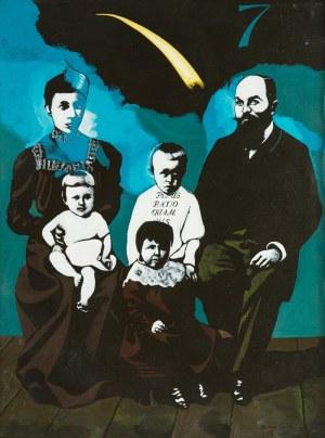 Antoni Fałat (ur. 1942 Warszawa), Portret rodzinny, 1987