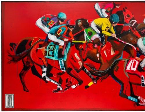 Wojciech Brewka (ur. 1980), Kentucky Derby, dyptyk, 2015