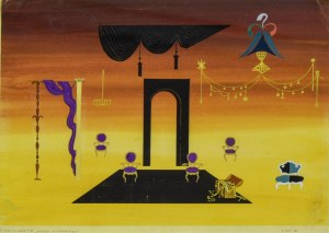 Jerzy FELDMANN (1909-1987), Projekt scenografii do sztuki