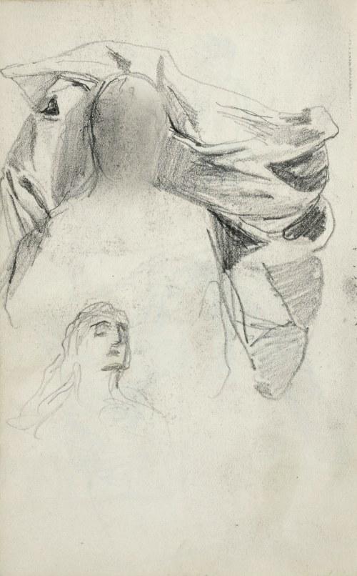 Stanisław KACZOR BATOWSKI (1866-1945), Szkice popiersia młodej kobiety oraz małego dziecka