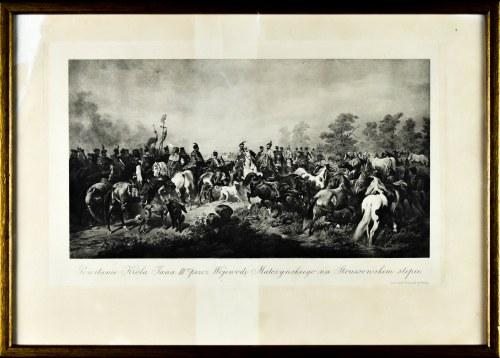 Juliusz KOSSAK (1824-1899), Powitania Króla Jana III-go przez Wojewodę Małczyńskiego na Strussowskim stepie