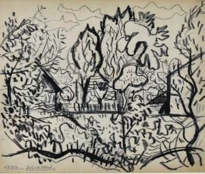 Kazimierz PODSADECKI (1904-1970), Pejzaż z drzewami - Park, 1964
