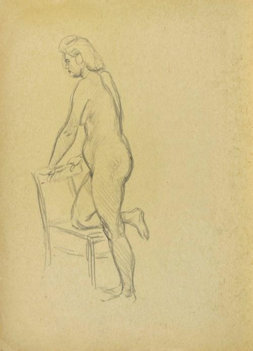 Ludwik MACIĄG (1920-2007), Studium aktu stojącej kobiety