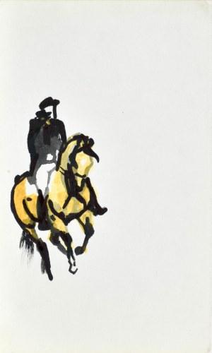 Ludwik MACIĄG (1920-2007), Dżokej na koniu