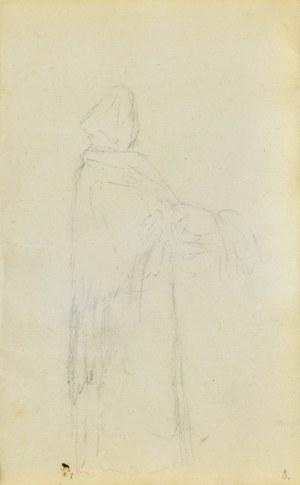 Jacek MALCZEWSKI (1854-1929), Postać stojącej kobiety w wiejskiej chuście ukazana z prawego boku