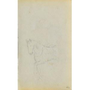Jacek MALCZEWSKI (1854-1929), Szkic kroczącego konia