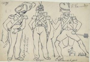Stanisław KAMOCKI (1875-1944), Żołnierze armii francuskiej szkice, ok. 1894