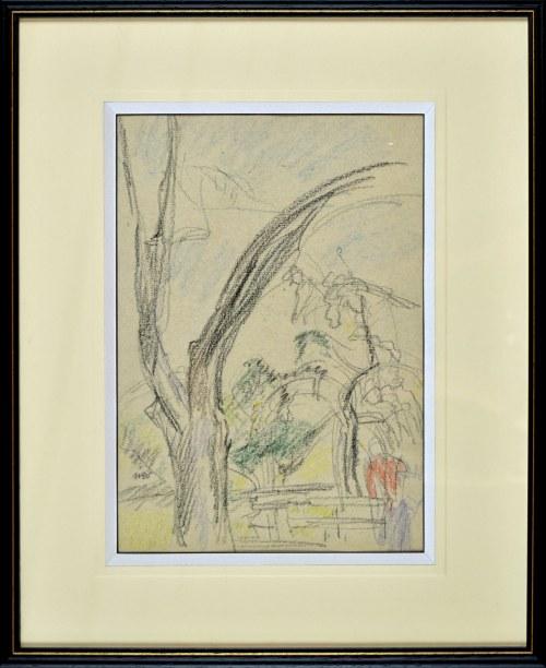 Wojciech WEISS (1875-1950), Drzewo w ogrodzie w Kalwarii