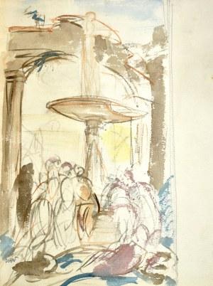 Wojciech WEISS (1875-1950), Przy fontannie, 1915