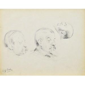 Eugeniusz ZAK (1887-1926), Szkice głów męskich