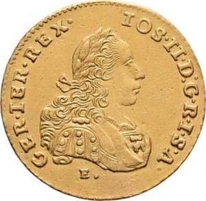 Josef II., ( 1765 - ) 1780 - 1790, 2 Dukát 1773 E/H-G, Karlovský Bělehrad, P.2, KM.2085,