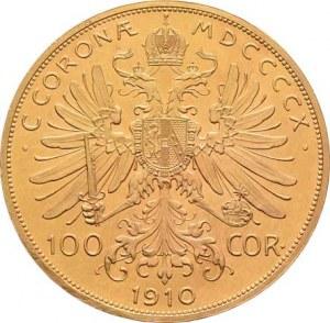 František Josef I., 1848 - 1916, 100 Koruna 1910 (pouze 3.074 ks), 33.732g, nep.hr.,