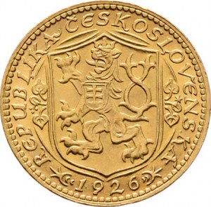 Československo, období 1918 - 1939, Dukát 1926 (raženo 58.669 ks), 3.490g, nep.hr.,