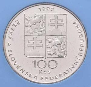 Československo 1990 - 1993, 100 Koruna 1992 - Lidice a Ležáky, KM.161 (Ag500,