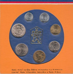 Sady oběhových mincí, Ročník 1987 - v etui (7ks), etue nep.poškozena