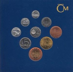 Česká republika, 1993 -, Sada oběhových mincí v původní etui - ročník 1998,