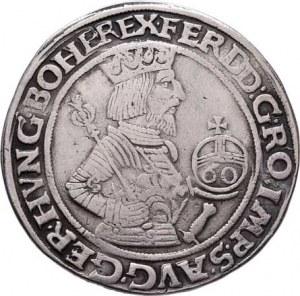Ferdinand I., 1519 - 1564, 60 Krejcar 1564, Hall-Krump, M-A.47, Markl.1564-var.,