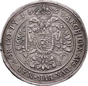 Leopold I., 1657 - 1705, Tolar 1693 KB, Nech.1084, Husz.1373 - lví hlava