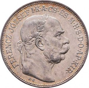 Korunová měna, údobí let 1892 - 1918, 2 Koruna 1914 KB, 9.915g, nep.hr., nep.rysky, krásná