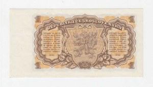 Československo - bankovky a státovky 1953, 1 Koruna 1953, série JR (Praha), BHK.86bA, He.98b,