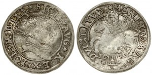 Lithuania 1 Grosz 1545 Vilnius. Sigismund II Augustus (1545-1572). Averse: Crowned bust facing right. Reverse...