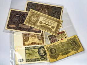 Poland 1/2-50000 Marek & 100-500 Zlotych Set 1916-1940  Banknotes Lot of 8 Banknotes