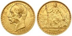 Denmark Danish West Indies 4 Daler 1904(h) Christian IX(1863-1906 ). Averse: Head left. Reverse...