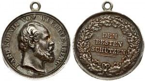 Germany Württemberg Medal (1864) Karl (1864-1891). Silver shooting award medal n.d. (awarded 1876-91). Stamp by Chr...