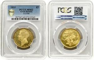 Great Britain 2 Pounds 1823 George IV(1820-1830). Averse: Head left. Averse Legend: GEORGIUS IIII D:G: BRITANNIAR...