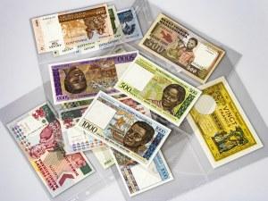 Madagascar 20-5000 Francs Set 1937-2000 Banknotes (included 1937-1947 20 francs au-unc-). (Various to UNC)...