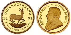 South Africa 1/10 Krugerrand 1993 Averse: Bust of Paul Kruger left. Averse Legend: SUID-AFRIKA - SOUTH AFRICA. Reverse...