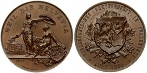 Switzerland Medal 1890 Frauenfeld; from H. Bovy; on the confederate shooting match. Averse: Coat of arms...