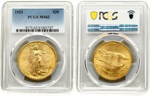 USA 20 Dollars 1923 Philadelphia. 'Saint-Gaudens - Double Eagle' with motto. Averse...